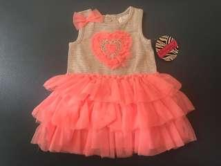 100% New 女嬰夾衣裙