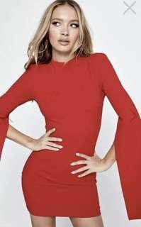 Mossman Misery Dress Size 6 Red