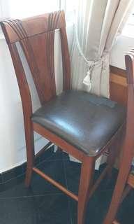 🚚 Bar high chair wood stool bar