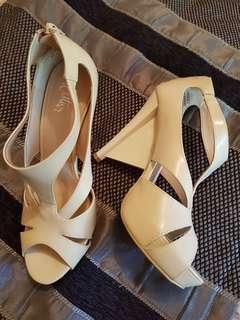 Venice 2 - Geometric heels - nude