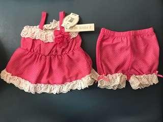 100% New 女嬰上衣及褲子套裝