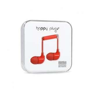 (Brand New) Happy Plugs in Fire Engine Red