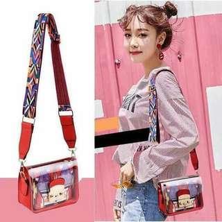 2in1 Transparent Sling Bag