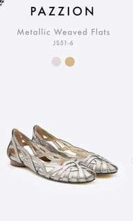 Pazzion metallic weaved flats