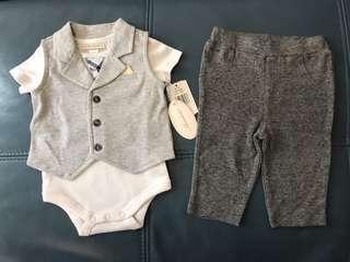 100% New 男嬰上衣及褲子三件套裝
