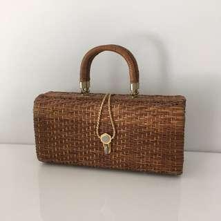 Vintage woven wicker bag