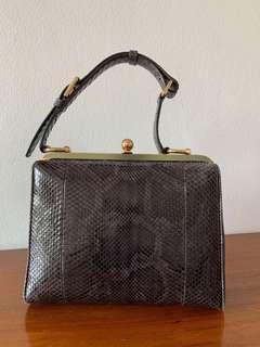 Dolce & Gabbana Snakeskin Top Handle Bag