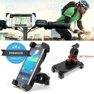 Bike Mount Universal Bicycle Motorcycle Phone Holder - Adjustable Cradle Rotate 360 Degrees Handlebar Roll Bar For iPhone / Android Smartphone / GPS