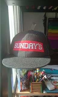 "Black and Red ""SUNDAY'S"" Cap/ Hat"