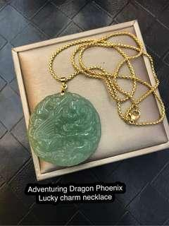Adventuring Dragon Phoenix good luck  Necklace 🔥