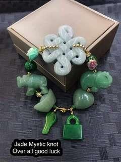 Jade Mystic knot over all good luck Bracelet 🔥