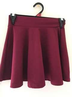 ⭐️K-Style Red Skater Skirt #swapau