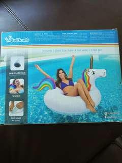 Inflatable unicorn float party tube