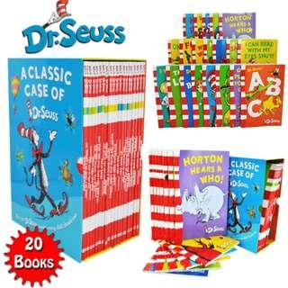 A classic case of Dr. Seuss Box Set (20 books)