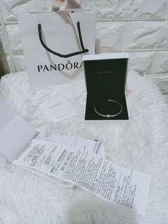 authentic pandora bangle 17cm rose gold clasp not mk,ks,coach
