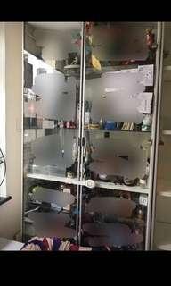 Ikea 宜家家私 Billy 書櫃連玻璃櫃門 (80cm 闊)