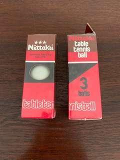 Vintage Nittaku table tennis balls
