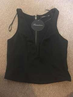 Low cut (front) top size 6