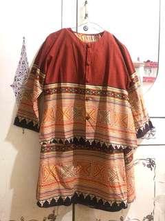 batik set atasan dan rok