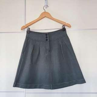 Zara style grey A-lined skirt  灰色活潑A字半身裙