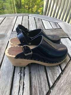 Hanna Andersson Swedish Clogs Shoes Mules Girls