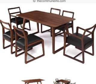 Commune Solid Wood Dining table