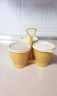 Rare!! Vintage 3 Tupperware Containers/Server