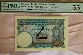 🚚 Rare Prefix D Malaya 25 Cents Note