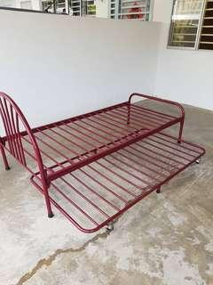 Single Bed Frame for two mattress