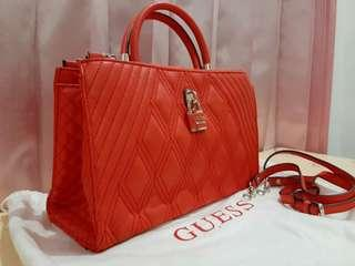 Bright red guess bag