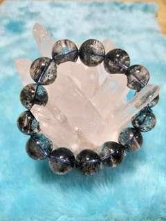 🚚 藍幽水晶手鍊