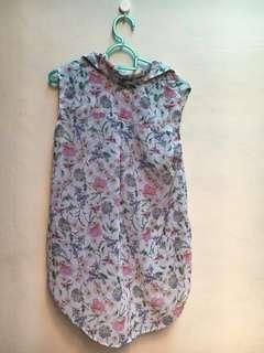 H&M - Sleeveless Floral Shirt