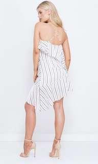 Carleigh layered white stripe dress