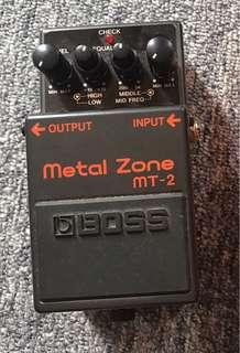 Boss Metal Zone guitar pedal