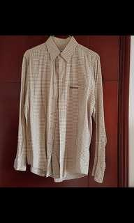 Baleno brown checkered shirt 格仔恤衫