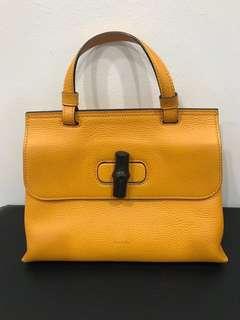 9359da63d Vintage Gucci Bamboo Handle & Knob, Leather Bag, Women's Fashion ...