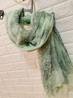 Pink green scarf