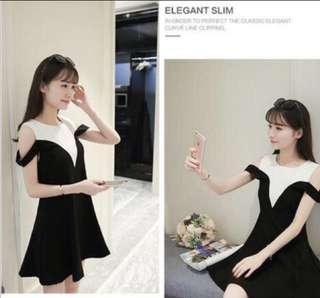 🚚 BNWT Off Shoulder Babydoll Dress In Black