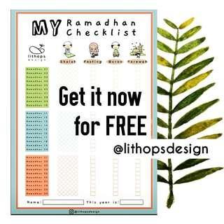 Kids Poster - Ramadhan Checklist