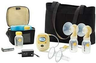 MEDELA PUMP motor+Bottles+spectra handsfree cup connector Complete breastfeeding starter kit!