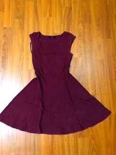 maroon dress forever 21