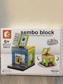 樂高積木sembo block bookstore