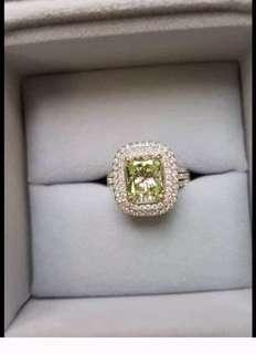 🚚 Krystle Hung洪婕玓:137萬黃鑽全鑽戒指,待議