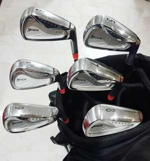 Srixon Forged I701 irons on premium Xcaliber shafts R flex plus Free Srixon Z725 Driver and Free bag (nt titleist, taylormade, Callaway, ping)