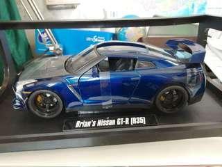 合金車 GTR35 日產 跑車 1:18