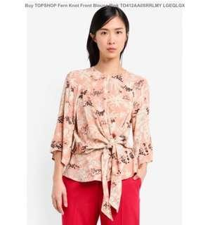 Topshop knot Blouse pink