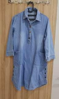 Like New Jeans Dress Bahan Bagus