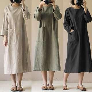 Casual Dress 3/4 sleeves plus size dress