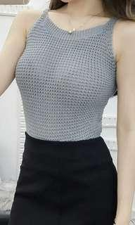 Knitted Cross Back Top