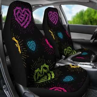 🎁 Black Chain Heart Seat Covers